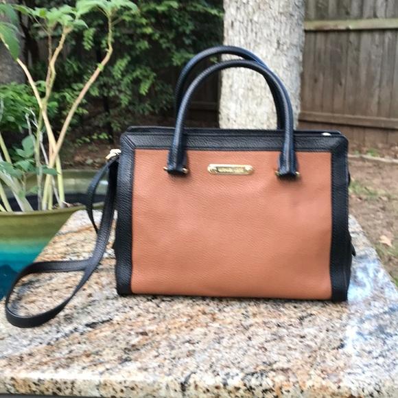 Michael Kors Collection Handbags - {Michael Kors} 'Dillon' SM Black Acorn & Saffiano